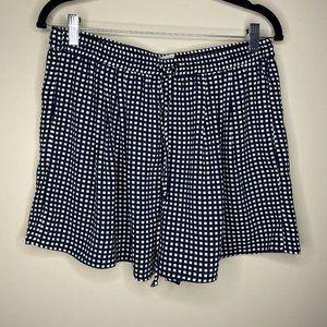 J. Crew Mercantile Navy Blue Checkered Shorts M